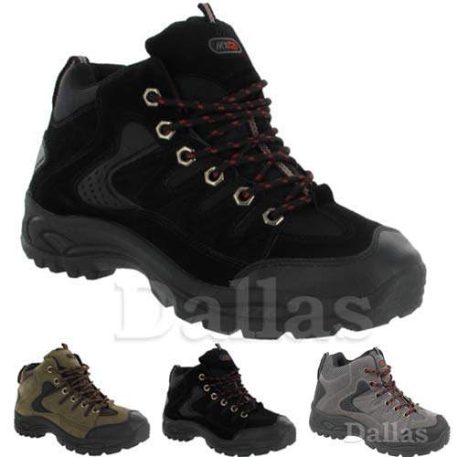 mens hiking boots walking ankle high top trail trekking