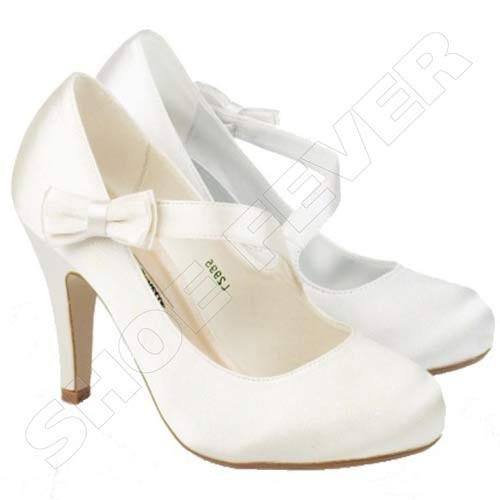 womens wedding shoes heels satin bridal bridesmaid