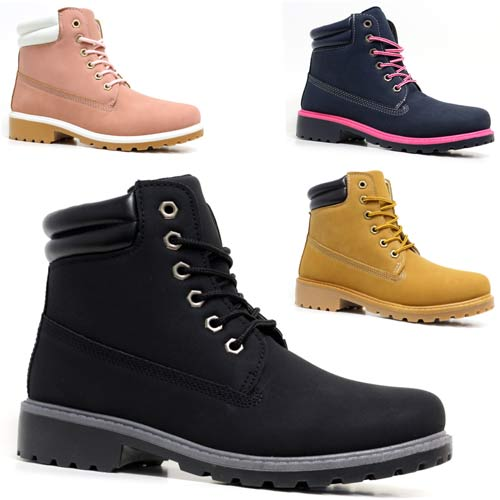 Amazing  Casual Leather Warm Fur Hiking Military Snow Ankle Boots Shoes XZ030