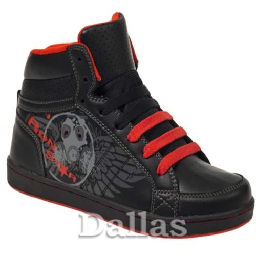 BOYS GIRLS ANKLE HI HIGH TOPS SKATE BASEBALL TRAINERS