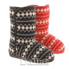 Ladies Warm Winter Ankle Slipper Boots