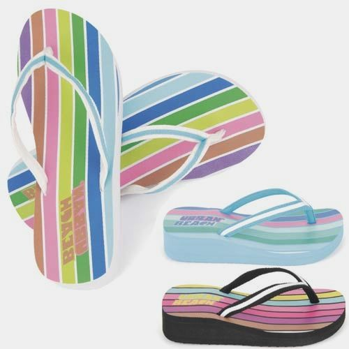 LADIES WEDGE SUMMER SANDALS WOMENS GIRLS FLIP FLOPS BEACH TOE POST SHOES SIZE