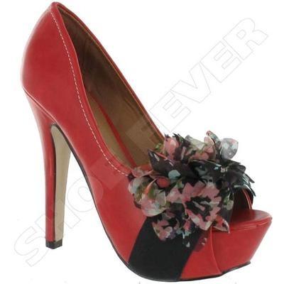 Red Multi Womens Wedding High Heel Peep Toe Sandals
