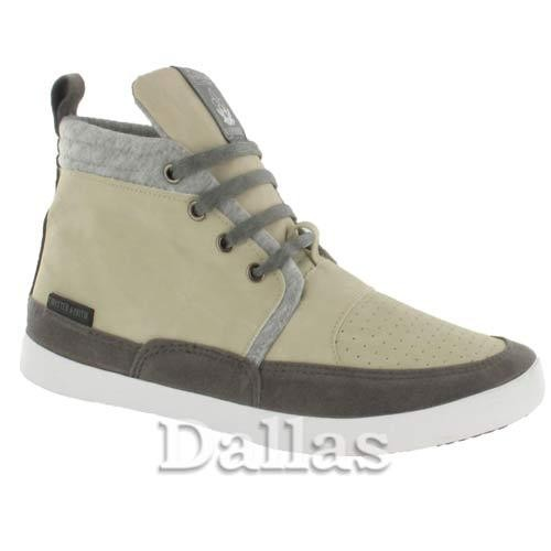 Beige Mens High HI Tops Trainers Boys Casual Lace Up Ankle Canvas Retro