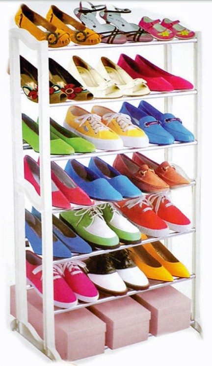 SHOE RACK STAND 7 TIER 21 PAIRS STORAGE NEW ORGANISER
