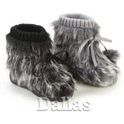 GIRLS BOYS YETI SLIPPERS WINTER THERMAL BOOTS