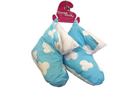 Ladies Blue Colour Duck Down Slippers