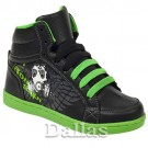 BOYS GIRLS ANKLE HI HIGH TOP SKATE TRAINERS