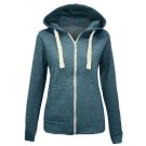 LADIES FULL ZIP HOODED TOP GIRLS WINTER WARM THERMAL JUMPER SWEATER SWEATSHIRT