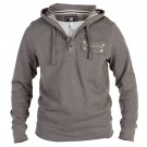 CHARCOAL MENS HOODED TOP WINTER WARM BOYS COTTON JUMPERS