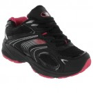 BLACK LADIES TRAINERS WOMENS GIRLS SPORTS RUNNING GYM JOGGING CASUAL TRAINER SIZE