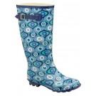 Ladies Blue Heel Wellingtons Wellies Boots