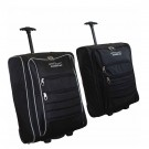 "42L Capacity Lightweight 21"" Wheeled Cabin Trolley Bag Suitcase Luggage Bag Grey/Black"