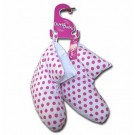 Ladies White Polkadot Duck Down Slippers