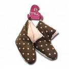Ladies Chocolate Duck Down Slippers