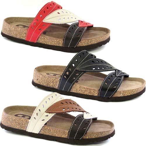 a64c18b1d6340 Details about Ladies Leather Sandals Women Girls Walking Comfort Summer  Beach Fancy Shoes Size
