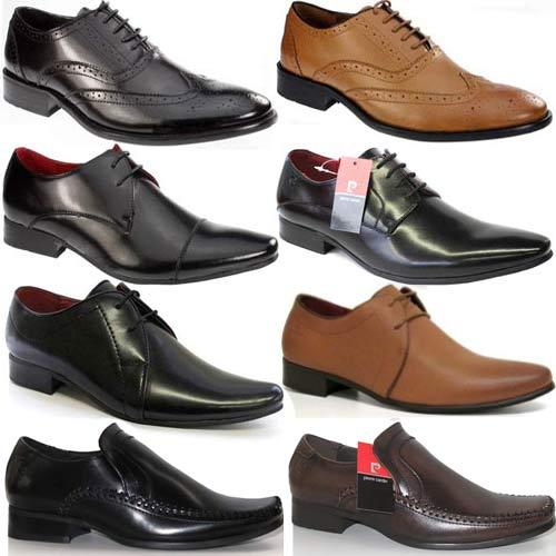Mens Pierre Cardin Leather Shoes Designer Italian Smart