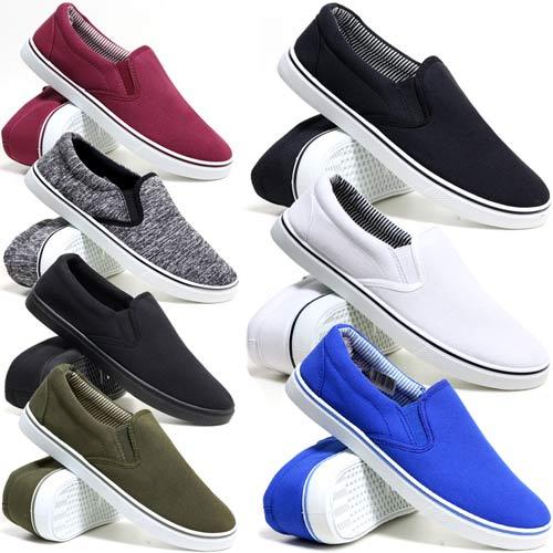 Mens Boys Slip On Casual Skater Espadrilles Plimsolls Trainers Pumps Shoes Size