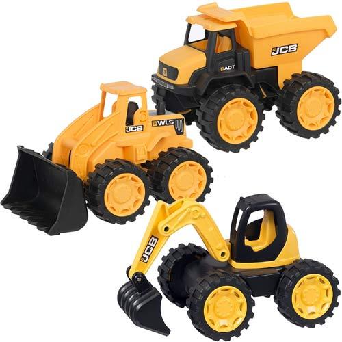 9 inch Children Kids Plastic Excavator Construction JCB Truck Digger Vehicle Toy